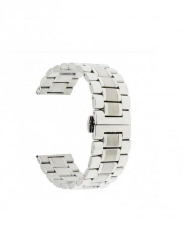 Mεταλλικό Stainless steel λουράκι με διπλό butterfly buckle κλείσιμο Για Το Xiaomi Mi Watch   - Ασημί