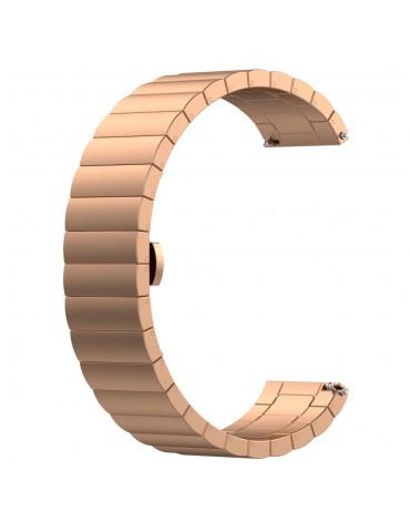 Λουράκι stainless steel bracelet με butterfly buckle για το  Amazfit GTS 2e (43mm)/GTS 2 (43mm)/GTS 2 mini - Rose Gold