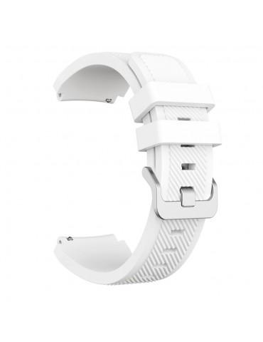 Λουράκι σιλικόνης Twill Texture για το Amazfit GTR 47mm άσπρο OEM