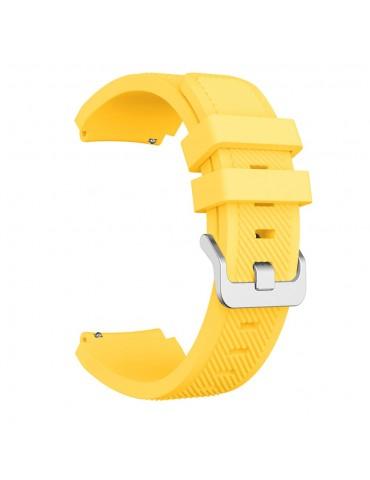 Λουράκι σιλικόνης Twill Texture για το Amazfit GTR 47MM κίτρινο OEM
