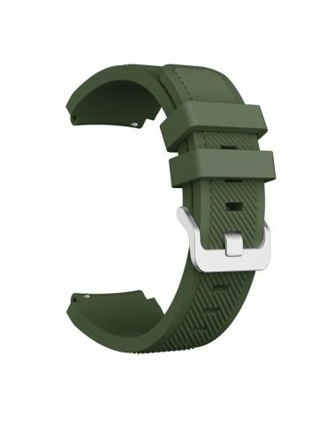 Λουράκι σιλικόνης Twill Texture για το Haylou Solar LS05 (45mm) - Army Green