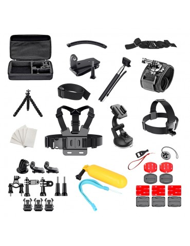 Set of 50 in 1 accessories for GoPro SJCAM sports cameras