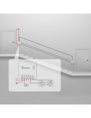 SONOFF Smart Διακόπτης SNF-MINI Two Way, 10A, WiFi, λευκός | SNF-MINI