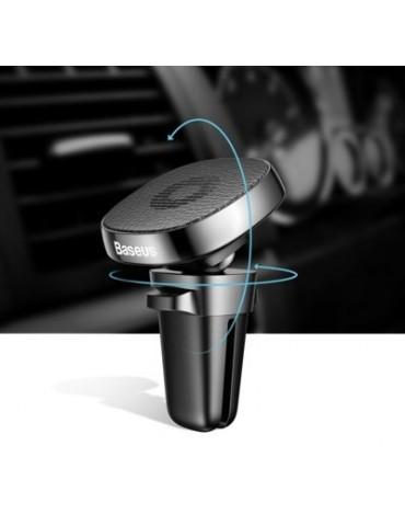 Βάση Αυτοκινήτου Αεραγωγού Baseus Privity Pro Air Outlet Magnet Bracket Leather Black