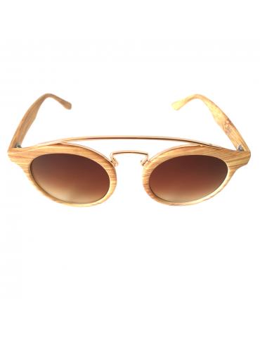 Γυαλιά ηλίου με καφέ ντεγκραντέ φακό και ανοιχτό καφέ σκελετό