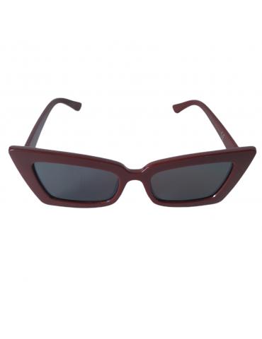 Γυαλιά ηλίου με μαύρο φακό και μπορντό σκελετό