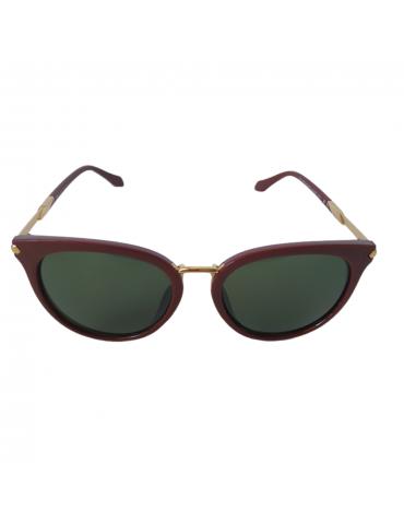 Γυαλιά ηλίου με πράσινο φακό και μπορντό σκελετό