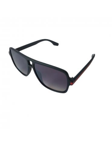 Γυαλιά ηλίου με γκρι ντεγκραντέ φακό και μαύρο με κόκκινη γραμμή σκελετό