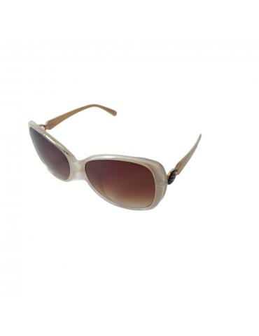 Γυαλιά ηλίου με καφέ ντεγκραντέ φακό και μπεζ σκελετό