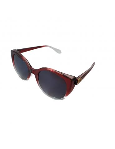Γυαλιά ηλίου με μαύρο φακό και κόκκινο ντεγκραντέ σκελετό