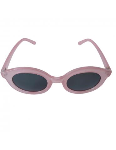 Γυαλιά ηλίου με μαύρο φακό και ροζ σκελετό