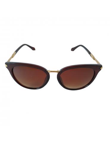 Γυαλιά ηλίου με καφέ ντεγκραντέ φακό και καφέ σκελετό