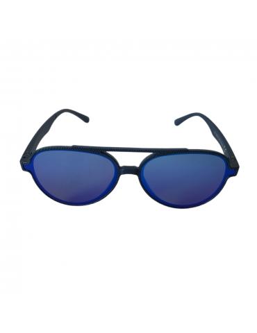 Γυαλιά ηλίου με μπλε καθρέφτη φακό και μπλε σκελετό