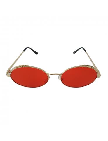 Γυαλιά ηλίου με κόκκινο φακό και χρυσό σκελετό