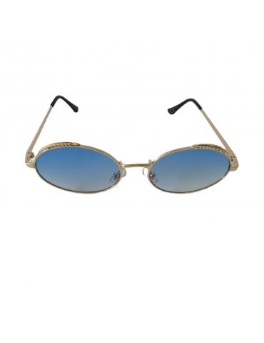 Γυαλιά ηλίου με μπλε διάφανο φακό και χρυσό σκελετό