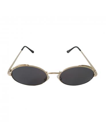 Γυαλιά ηλίου με μαύρο φακό και χρυσό σκελετό
