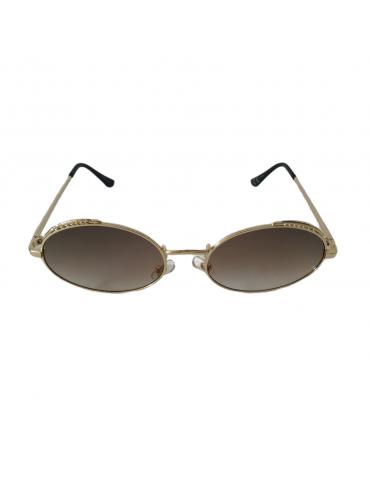 Γυαλιά ηλίου με καφέ διάφανο φακό και χρυσό σκελετό