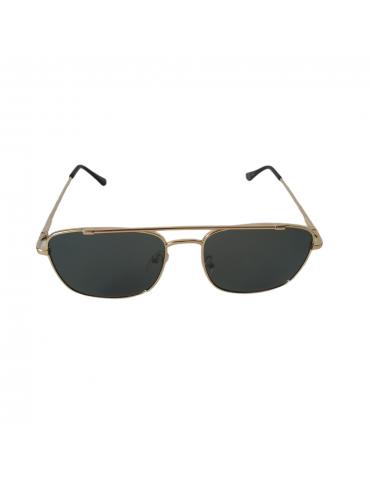 Γυαλιά ηλίου με πράσινο φακό και χρυσό σκελετό
