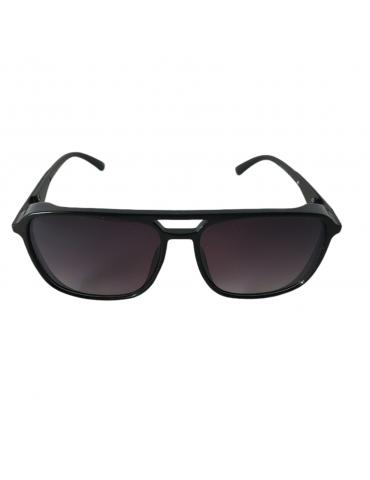 Γυαλιά ηλίου με γκρι ντεγκραντέ φακό και μαύρο σκελετό