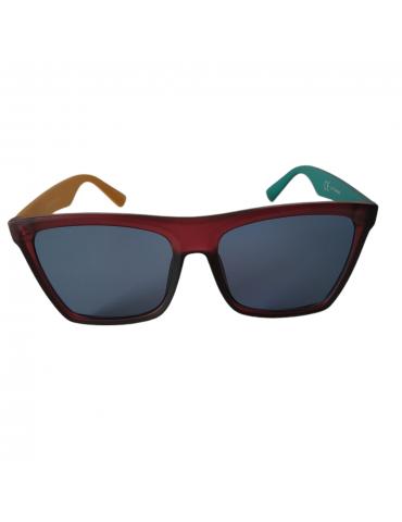 Γυαλιά ηλίου με γκρι φακό και πολύχρωμο σκελετό