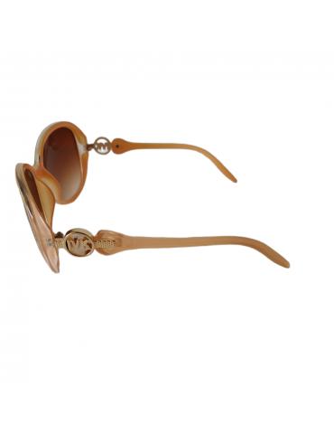Γυαλιά ηλίου με καφέ φακό και ανοιχτό μπεζ σκελετό