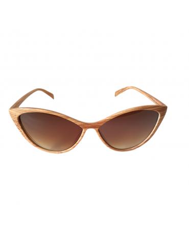 Γυαλιά ηλίου με καφέ φακό και ανοιχτό καφέ σκελετό