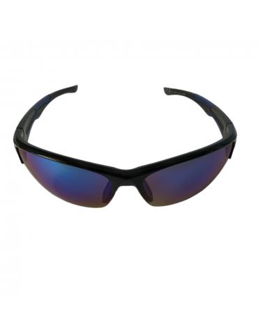 Γυαλιά ηλίου με μπλε καθρέφτη φακό και μαύρο σκελετό