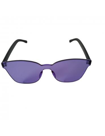 Γυαλιά ηλίου με μοβ διάφανο φακό και μαύρο σκελετό