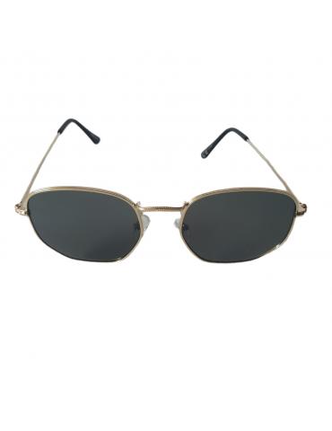 Γυαλιά ηλίου με γκρι φακό και χρυσό σκελετό