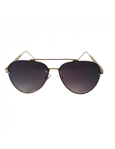 Γυαλιά ηλίου με γκρι ντεγκραντέ φακό και χρυσό σκελετό
