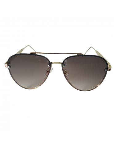 Γυαλιά ηλίου με καφέ ντεγκραντέ φακό και χρυσό σκελετό