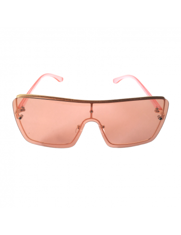 Γυαλιά ηλίου με ροζ διάφανο φακό και ροζ διάφανο σκελετό