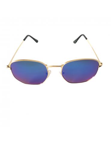 Γυαλιά ηλίου με μπλε- πράσινο καθρέφτη και χρυσό σκελετό