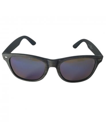 Γυαλιά ηλίου με μπλε- πράσινο καθρέφτη και σκούρο καφέ σκελετό