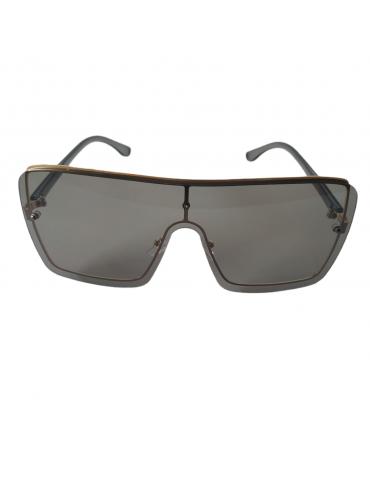 Γυαλιά ηλίου με γκρι διάφανο φακό και γκρι διάφανο σκελετό