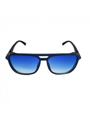 Γυαλιά ηλίου με μπλε ντεγκραντέ φακό και μαύρο σκελετό