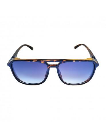 Γυαλιά ηλίου με γκρι ντεγκραντέ φακό και μαύρο με ταρταρούγα σκελετό