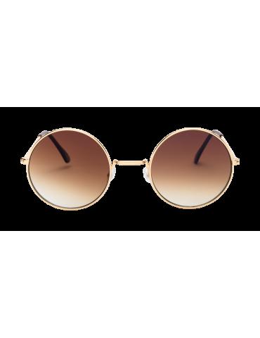 Γυαλιά ηλίου με καφέ ντεγκραντε φακό και χρυσό σκελετό