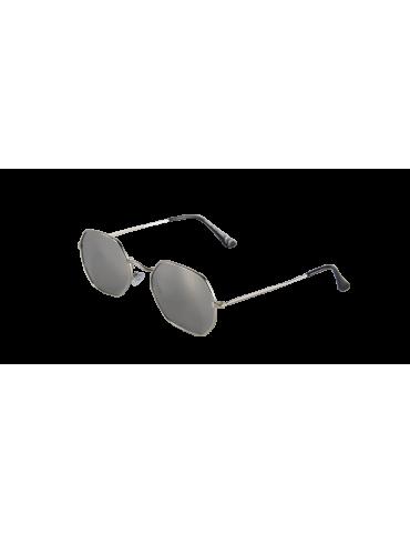 Γυαλιά ηλίου με ασημί φακό και ασημί σκελετό