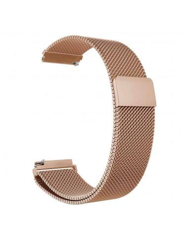 Milanese Loop Rose Gold με μαγνητικό κλείσιμο Για Το Huawei GT (42mm) /GT 2 (42mm)- OEM
