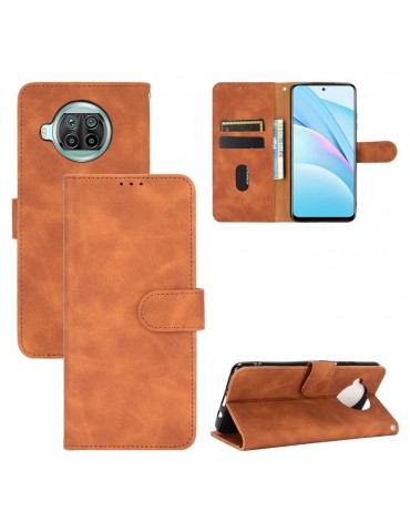 Δερμάτινη θήκη- πορτοφόλι με μαγνητικό κλείσιμο για το Xiaomi Mi 10T Lite 5G - Brown