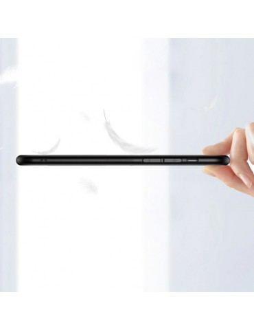 OEM Θήκη Gradient TPU με πλάτη από Tempered Glass για Samsung Galaxy A51 - Blue / Black
