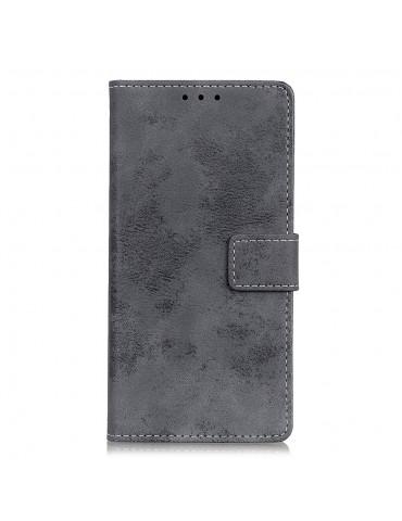 Δερμάτινη θήκη/ πορτοφόλι με μαγνητικό κλείσιμο για το Samsung GALAXY A51 - GREY OEM