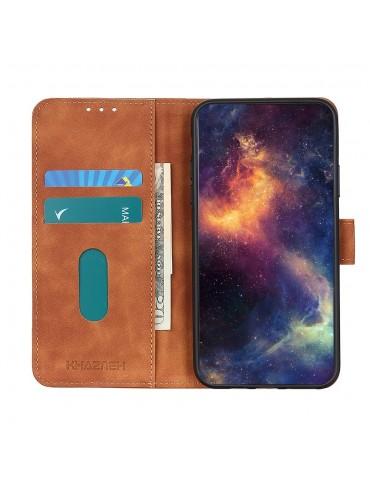 Δερμάτινη Θήκη/ Πορτοφόλι Με Μαγνητικό Κλείσιμο Για Το Xiaomi Redmi Note 9/Redmi 10X 4G - Brown
