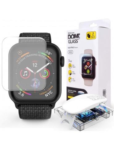 Whitestone Dome tempered glass για Apple Watch 4 / 5 / 6 / SE 44mm 2 Pack - Διά...