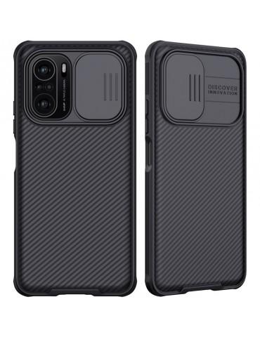 Nillkin CamShield Case Slim Cover with camera protection shield for Xiaomi Redmi Poco F3 -black