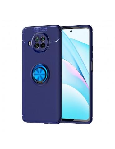 Θήκη Πλάτης σιλικόνης με Ring για το Xiaomi Mi 10T Lite 5G - Blue/ Sky Blue