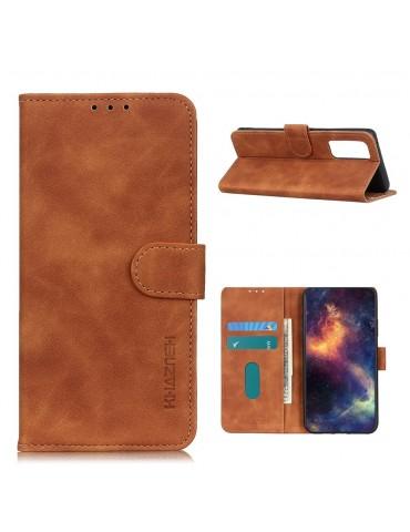 Δερμάτινη θήκη- πορτοφόλι με μαγνητικό κλείσιμο για το Xiaomi Poco M3- Brown