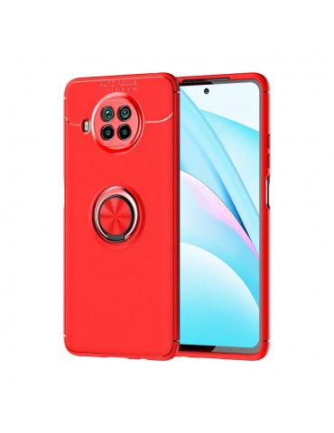 Θήκη Πλάτης σιλικόνης με Ring για το Xiaomi Mi 10T Lite 5G - Red