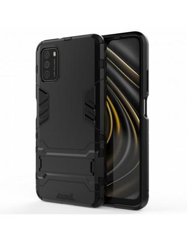 Θήκη Πλάτης Armor με Kickstand για το Xiaomi Poco M3- Black